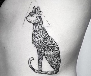 cat, ink, and tribal image