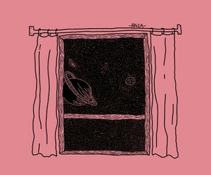 pink, space, and window image