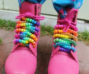 beads, colorful, and dr martens image