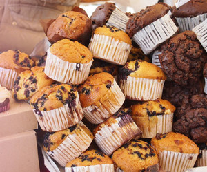 food, chocolate, and muffin image
