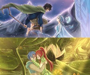 fairy tail, nalu, and gruvia image