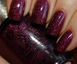 nails, wine, and nail polish image