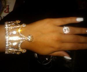 diamond, nails, and crown image