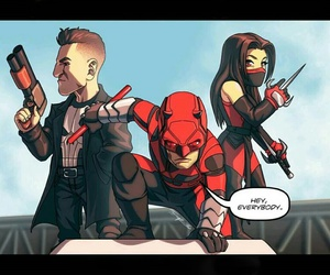 daredevil, Marvel, and punisher image