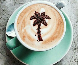 coffee, drink, and palm trees image