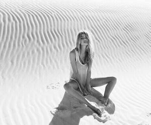 girl, photography, and sand image
