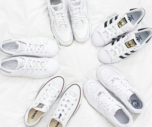 white, adidas, and converse image