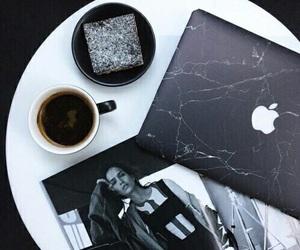 coffee, black, and macbook image