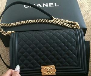 chanel, bag, and black image