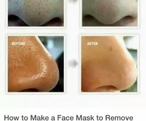 diy, black heads, and beauty image
