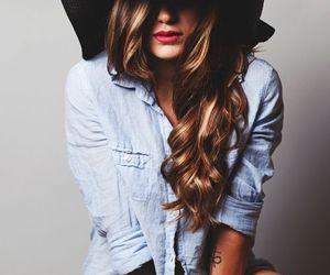 curly, hair, and hat image