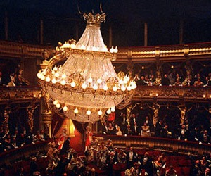 chandelier, music, and opera image