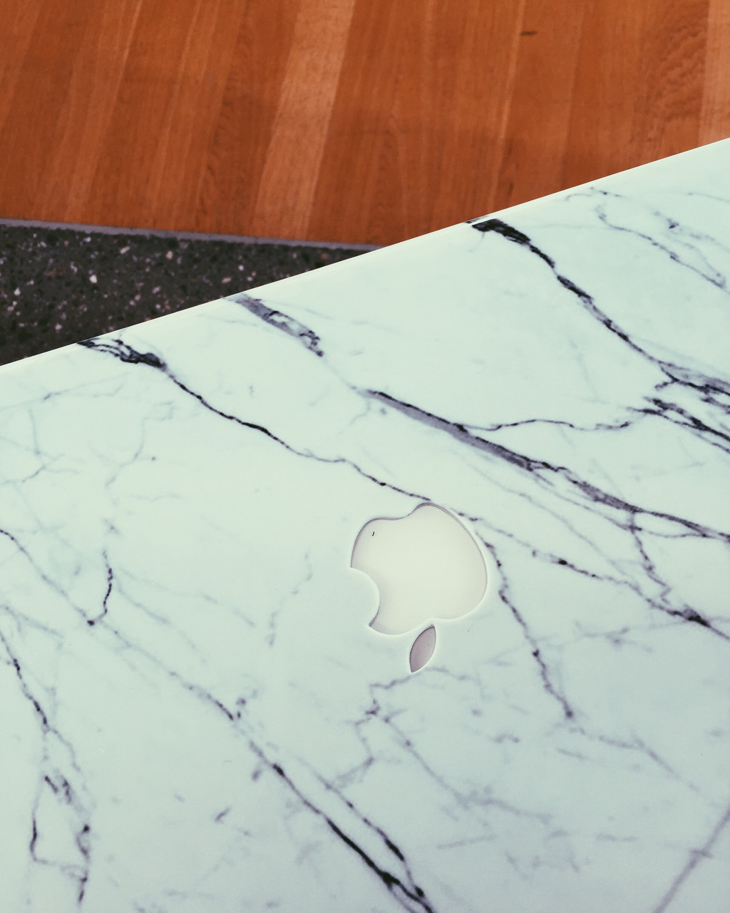 apple, macbook air, and marble image