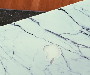 apple, marble, and macbook air image