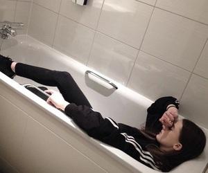 adidas, girl, and bath image