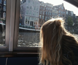 girl and amsterdam image