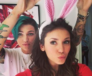 Nina Dobrev and ruby rose image