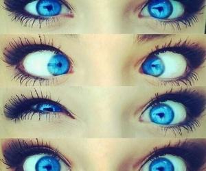 eyes and blue image