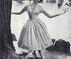 1955, August, and fashion image