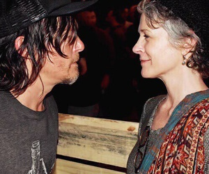 norman reedus, daryl dixon, and melissa mcbride image