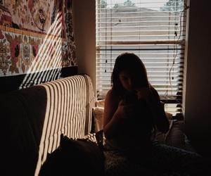 girl, brown, and dark image