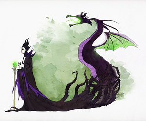 disney, dragon, and maleficent image