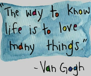 quote, life, and van gogh image