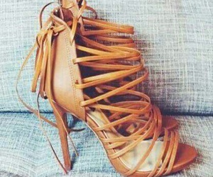 heels, shoes, and brown image