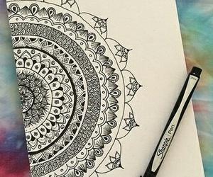 black, mandala, and draw image
