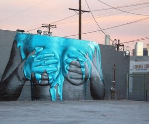 art, street art, and blue image