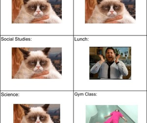 high school, lunch, and funny image