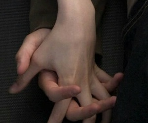couples, dark, and hands image