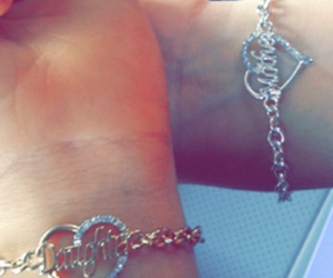 best friends, bracelets, and icings image