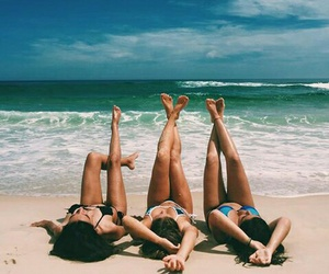 blue, sea, and friendship image