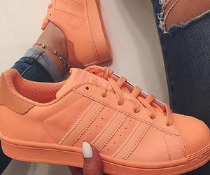 adidas, orange, and shoes image