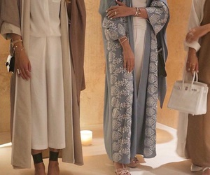 abaya, hijab, and luxury image