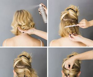 hairstyle, diy, and girl image