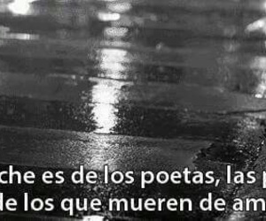 night, poetas, and frases image