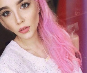 halsey, pink, and hair image