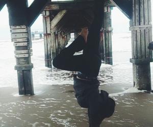 beach, black, and acrobacia image