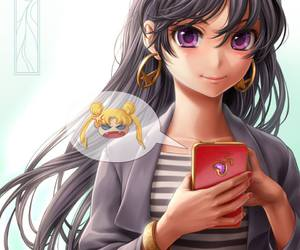 rei and sailor mars image