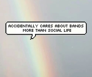 band, rainbow, and music image