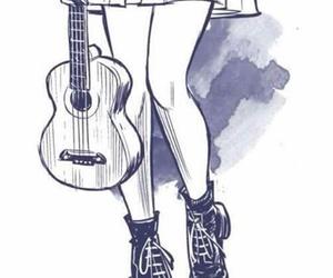 draw, music, and ukelele image