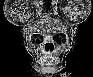 skull and mickey mouse image