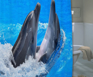 animation, bathroom, and dolphins image