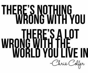 quote, chris colfer, and world image