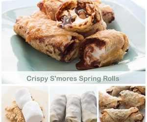 delicious, spring roll, and roll image