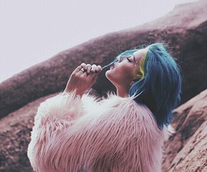 badlands, blue, and hair image