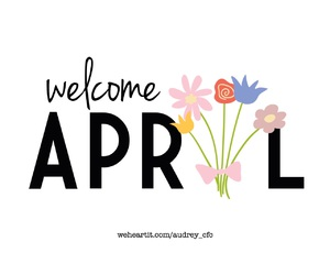 april, flowers, and month image