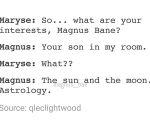 funny, magnus and alec, and the mortal instruments image